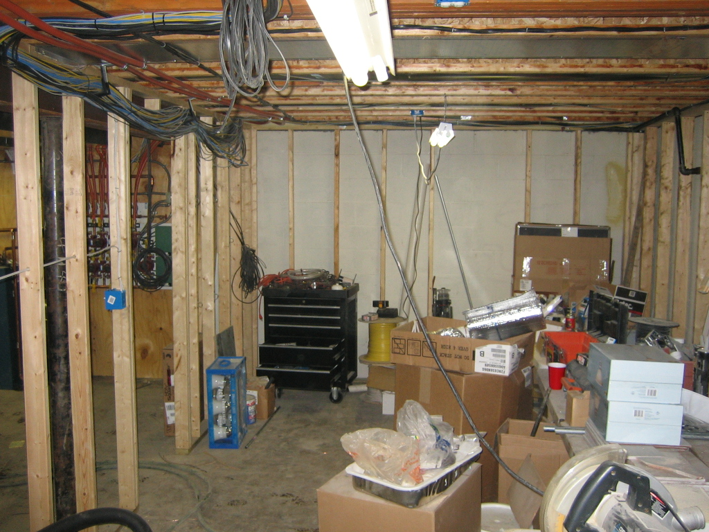 New House Photos Basement Phone Wiring Bundel Of And Satellite Cables Running On Top Floor Joyce