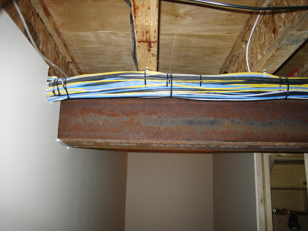 New House Photos Satellite Wiring Bundel Of Phone And Cables Running On Top Floor Joyce